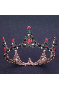 Royal Alloy Ruby Red Crystal Wedding Bridal Tiara Crown