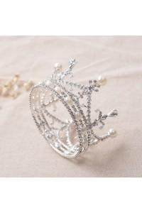 Fabulous Alloy Diamond Pearl Wedding Bridal Tiara Crown
