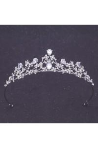 Elegant Crystal Diamond Wedding Bridal Prom Tiara Crown