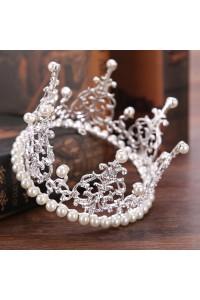 Greek Crystal Pearl Gold Leaf Laurel Wreath Headpiece