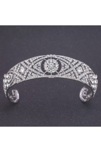 Sparkly Wedding Bridal Homecoming Tiara Crown With Swarovski Crystals