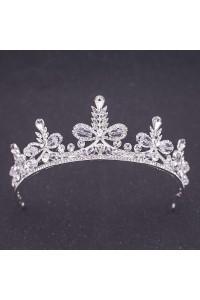 Luxurious Alloy Crystal Leaf Wedding Bridal Tiara Crown