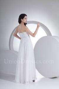 Beautiful Empire Pregnant Chiffon Beach Destination Wedding Dress Without Train Lace