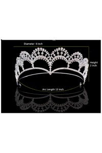 Beautiful Alloy Rhinestone Wedding Bridal Tiara Crown