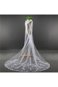 Beautiful One tier Tulle Lace Wedding Bridal Cathedral Veil With Comb