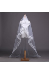 Classic One tier Tulle Lace Wedding Bridal Chapel Veil