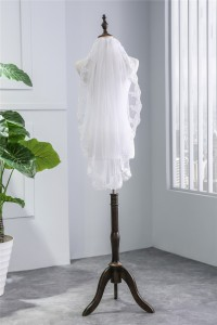 Cute One tier Tulle Lace Wedding Bridal Elbow Veil