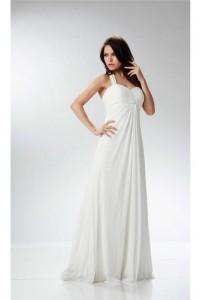 Elegant Halter Empire Waist Ivory Chiffon Ruched Beach Wedding Dress Maternity