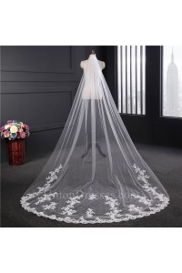 Elegant One tier Tulle Lace Wedding Bridal Cathedral Veil