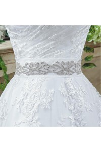 Wedding Dress With Crystals Sash