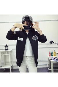 Fashion Black Women Junior Casual Jacket Coat
