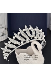 Gorgeous Rhinestone Pearl Wedding Bridal Tiara Crown Headpieces