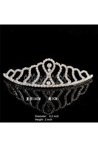 Gorgeous Rhinestone Wedding Bridal Tiara Crown With Comb