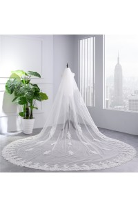 Gorgeous Tulle Lace Wedding Bridal Cathedral Veil