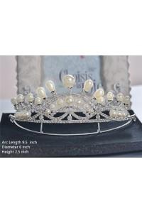 Gorgeous Wedding Bridal Tiara Crown With Pearls