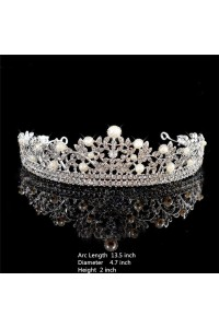 Gorgeous Wedding Bridal Tiara Crown With Rhinestones Pearls