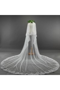 Luxury Two tier Tulle Lace Wedding Bridal Cathedral Veil