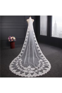 Romantic One tier Tulle Lace Wedding Bridal Cathedral Veil