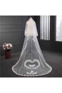 Romantic Tulle Lace Sweetheart Wedding Bridal Cathedral Veil
