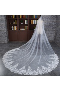 Royal One Tier Tulle Lace Edge Wedding Bridal Cathedral Veil