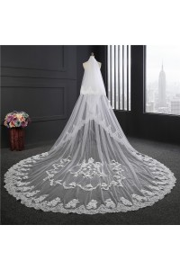 Royal Tulle Lace Wedding Bridal Cathedral Veil
