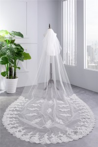Royal Two tier Tulle Lace Wedding Bridal Cathedral Veil