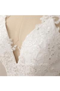 Sexy Sheath Halter Backless Chiffon Applique Destination Garden Wedding Dress