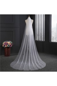 Simple One tier Tulle Wedding Bridal Cathedral Veil