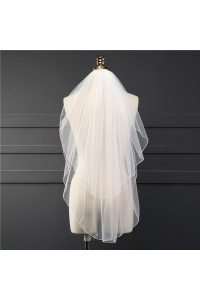 Simple Two tier Tulle Wedding Bridal Fingertip Veil