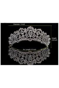 Sparkly Alloy Crystal Wedding Bridal Tiara Crown