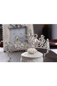Sparkly Alloy Wedding Bridal Tiara Crown With Crystals