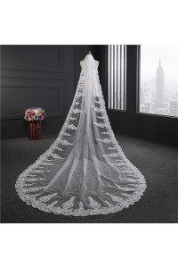 Sparkly One tier Tulle Lace Sequined Wedding Bridal Cathedral Veil