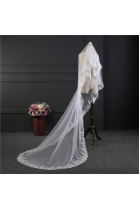 Sparkly Tulle Lace Sequined Wedding Bridal Cathedral Veil