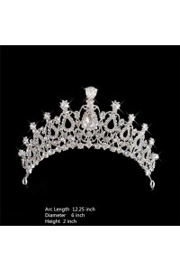Sparkly Wedding Bridal Tiara Crown With Swarovski Crystals