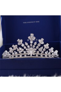 Sparkly Zircon Wedding Bridal Tiara Crown