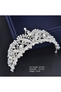Stunning Crystal Wedding Bridal Tiara Crown With Pearls