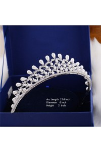 Top Quality Pearl Wedding Bridal Tiara Crown
