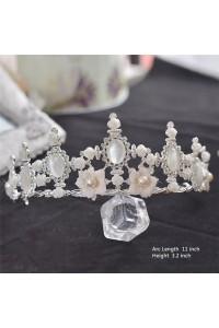 Vintage Ally Flower Pearl Wedding Bridal Tiara Crown
