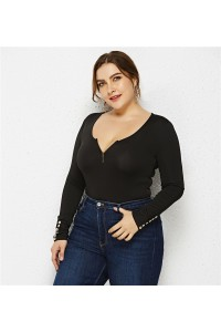 Sexy Long Sleeve Black Jersey Clothing Summer Beach Woman Plus Size Jumpsuit Bikini With Zipper