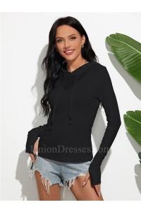 Sexy Women Hoodies Long Sleeves Slim Sweatshirt 2020 Winter Jumper Pullover Jacket
