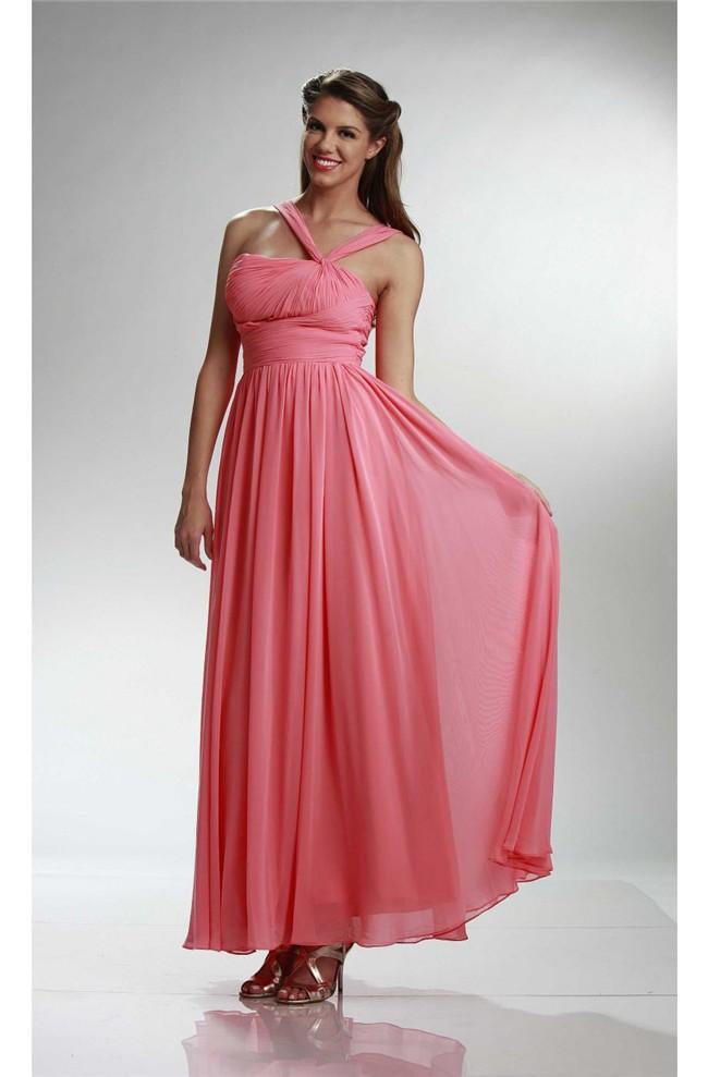 Blush Pink Fashion Unique Strapless Ankle Length Sheath