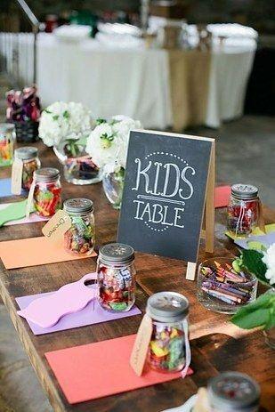 outdoor wedding kids table